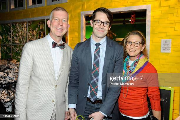 David Beahm Chad Kaydo and Joan Horton attend DAVID STARK and West Elm preview party for The Flower Shoppe and celebration of his new book DAVID...