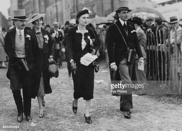 David Beatty 2nd Earl Beatty with his wife Dorothy at Epsom paddock UK 2nd June 1937