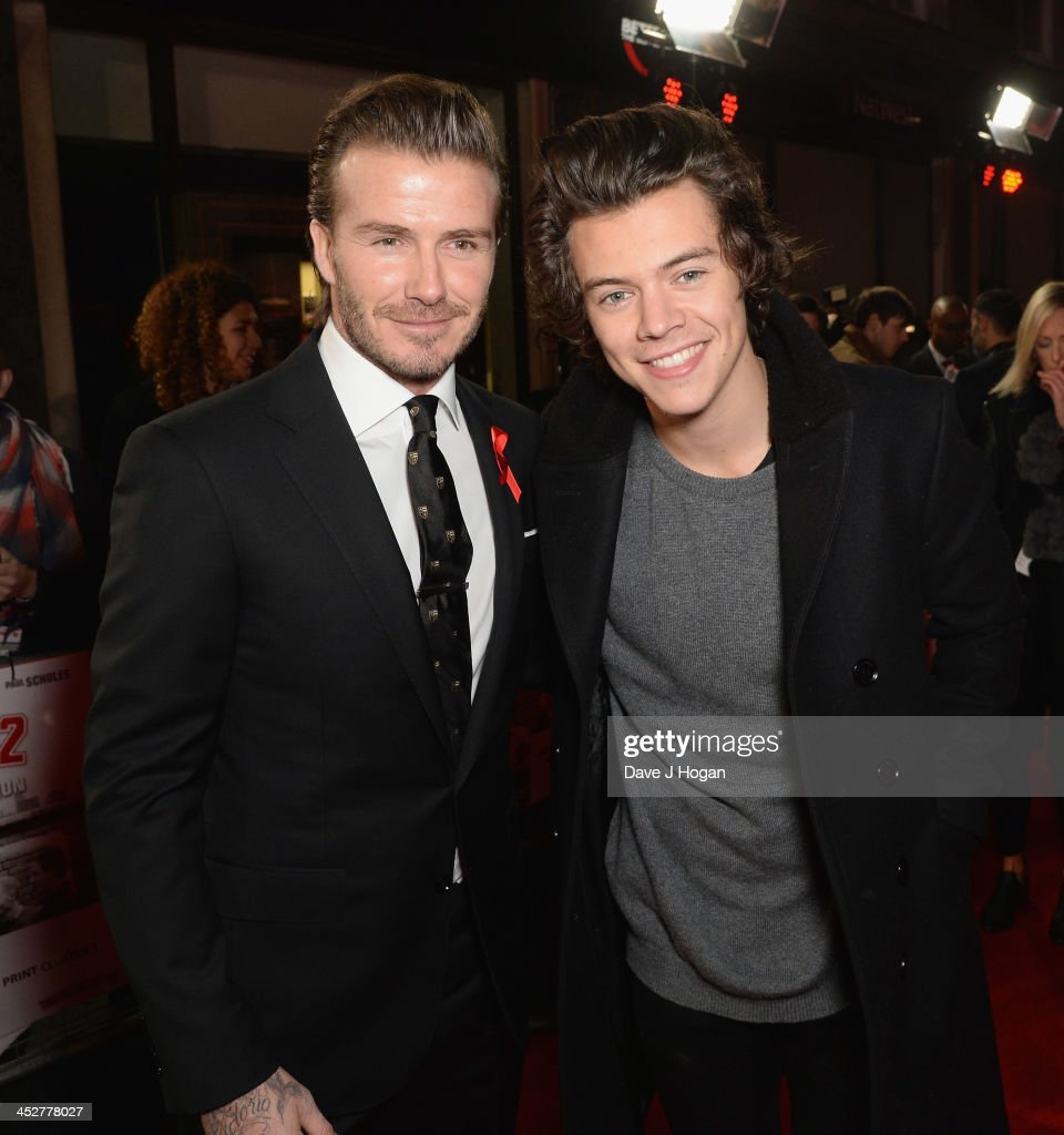 David Beckham and Harry Styles attend the World premiere of 'The Class of 92' at Odeon West End on December 1, 2013 in London, England.