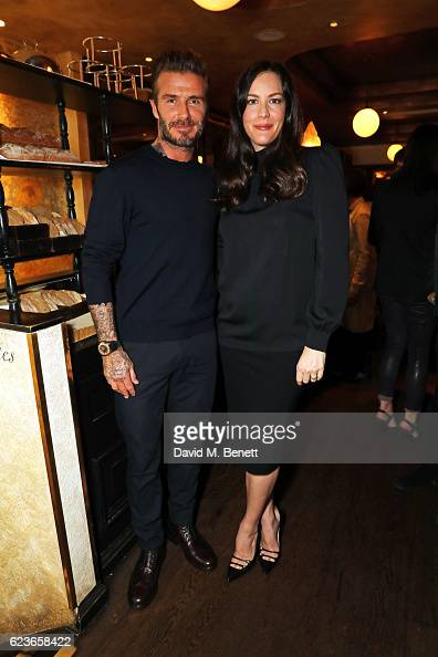 David Beckham and Liv Tyler attend the Kent Curwen dinner with Mr Porter at Little Social on November 16 2016 in London England