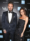 David Beckham and Victoria Beckham arrive at the Alexander McQueen Savage Beauty Fashion Gala at the VA presented by American Express and Kering on...