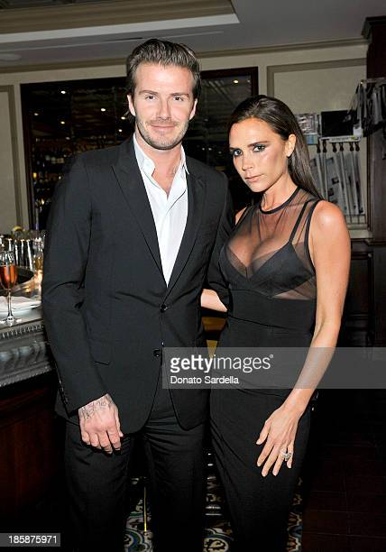 David Beckham and Victoria Beckham attend a dinner to celebrate the 2013 CFDA/Vogue Fashion Fund Finalists hosted by Lena Dunham Federico Marchetti...