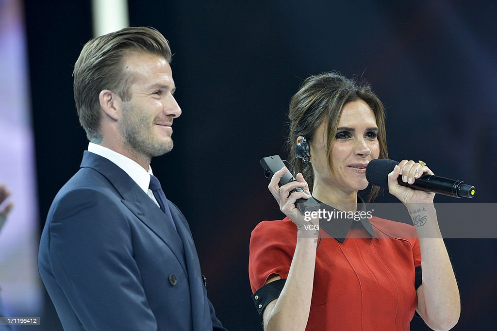 <a gi-track='captionPersonalityLinkClicked' href=/galleries/search?phrase=David+Beckham&family=editorial&specificpeople=158480 ng-click='$event.stopPropagation()'>David Beckham</a> and <a gi-track='captionPersonalityLinkClicked' href=/galleries/search?phrase=Victoria+Beckham&family=editorial&specificpeople=161100 ng-click='$event.stopPropagation()'>Victoria Beckham</a> attend China Central Television show on June 23, 2013 in Beijing, China.