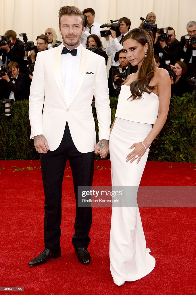 <a gi-track='captionPersonalityLinkClicked' href=/galleries/search?phrase=David+Beckham&family=editorial&specificpeople=158480 ng-click='$event.stopPropagation()'>David Beckham</a> (L) and Victoria Beckham attend the 'Charles James: Beyond Fashion' Costume Institute Gala at the Metropolitan Museum of Art on May 5, 2014 in New York City.