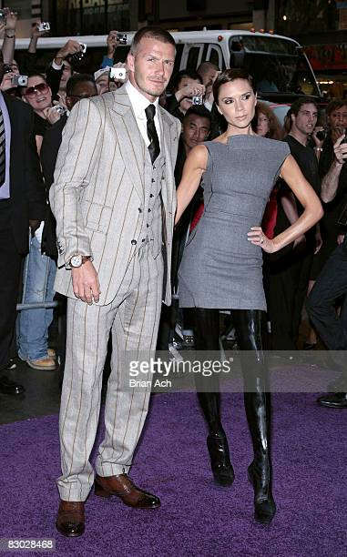 David Beckham and Victoria Beckham on the streets of Manhattan on September 26 2008 in New York City