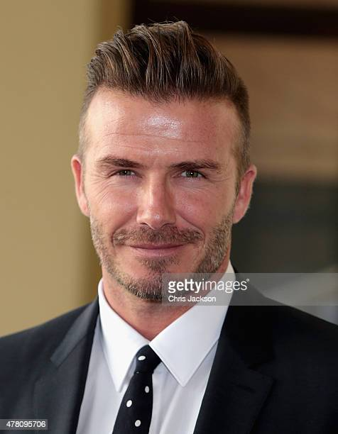 David Beckham arrives at Buckingham Palace for the Queen's Young Leaders Event on June 22 2015 in London England