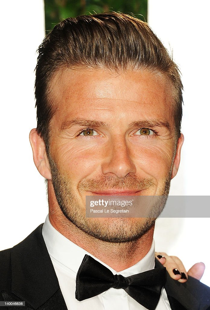 David Beckham arrives at the 2012 Vanity Fair Oscar Party hosted by Graydon Carter at Sunset Tower on February 26, 2012 in West Hollywood, California.