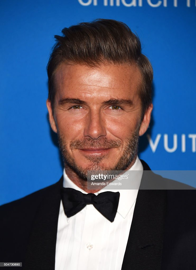 David Beckham arrives at the 6th Biennial UNICEF Ball at the Beverly Wilshire Four Seasons Hotel on January 12, 2016 in Beverly Hills, California.