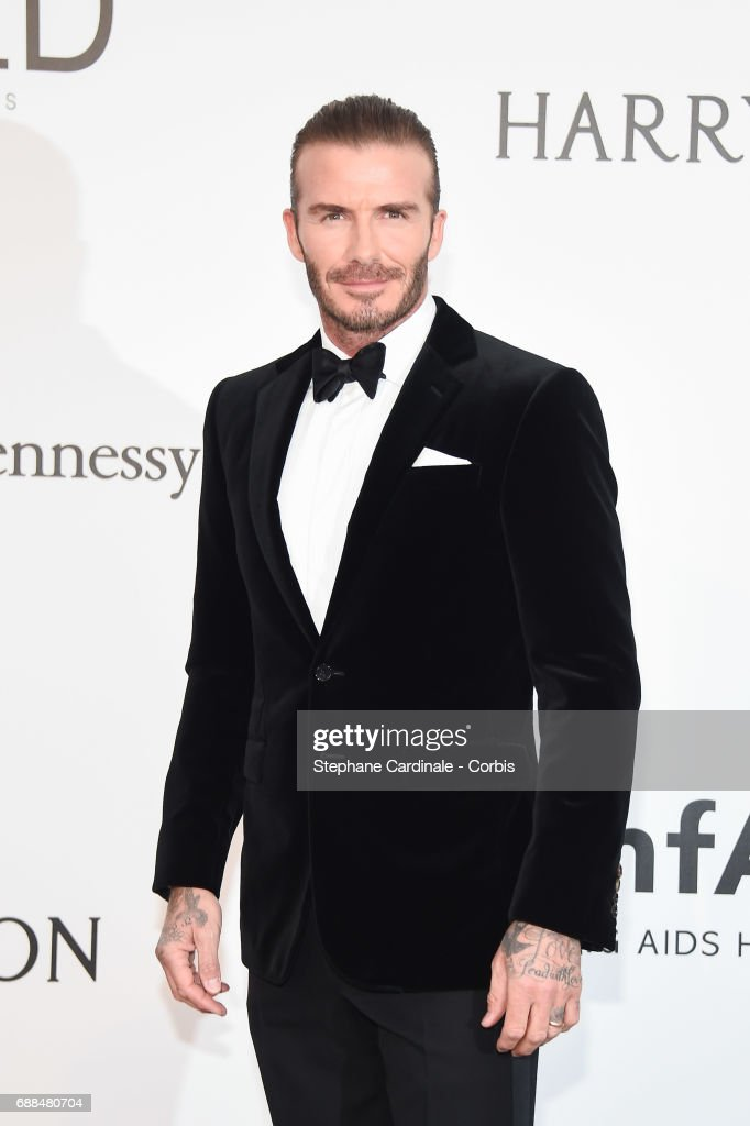 David Beckham arrives at the amfAR Gala Cannes 2017 at Hotel du Cap-Eden-Roc on May 25, 2017 in Cap d'Antibes, France.