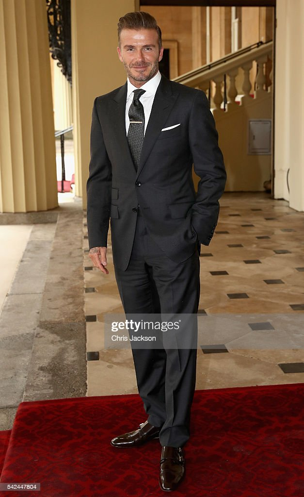 <a gi-track='captionPersonalityLinkClicked' href=/galleries/search?phrase=David+Beckham&family=editorial&specificpeople=158480 ng-click='$event.stopPropagation()'>David Beckham</a> arrives for the Queen's Young Leaders Awards at Buckingham Palace on June 23, 2016 in London, England.