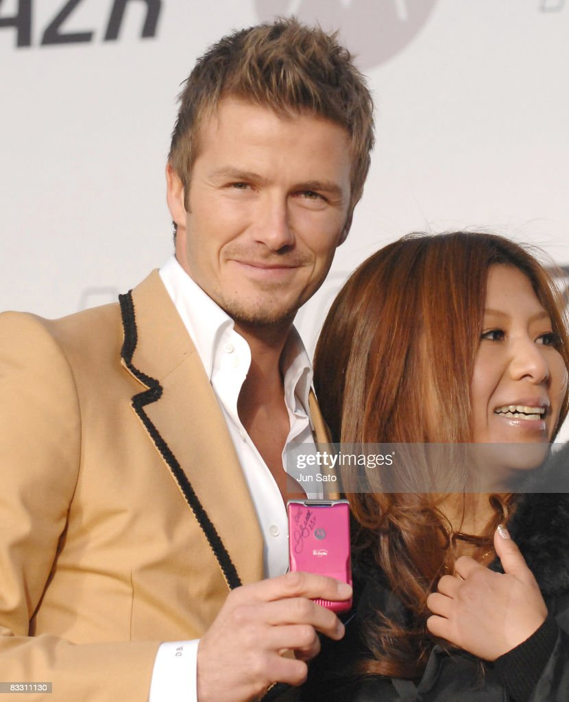David Beckham at Launch of MOTORAZR in Japan with Motorola DoCoMo Consumer