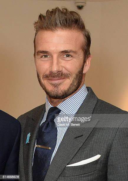 David Beckham attends a charity auction of 'David Beckham The Man' hosted by Phillips at their European Headquarters and catered by Sexy Fish on...