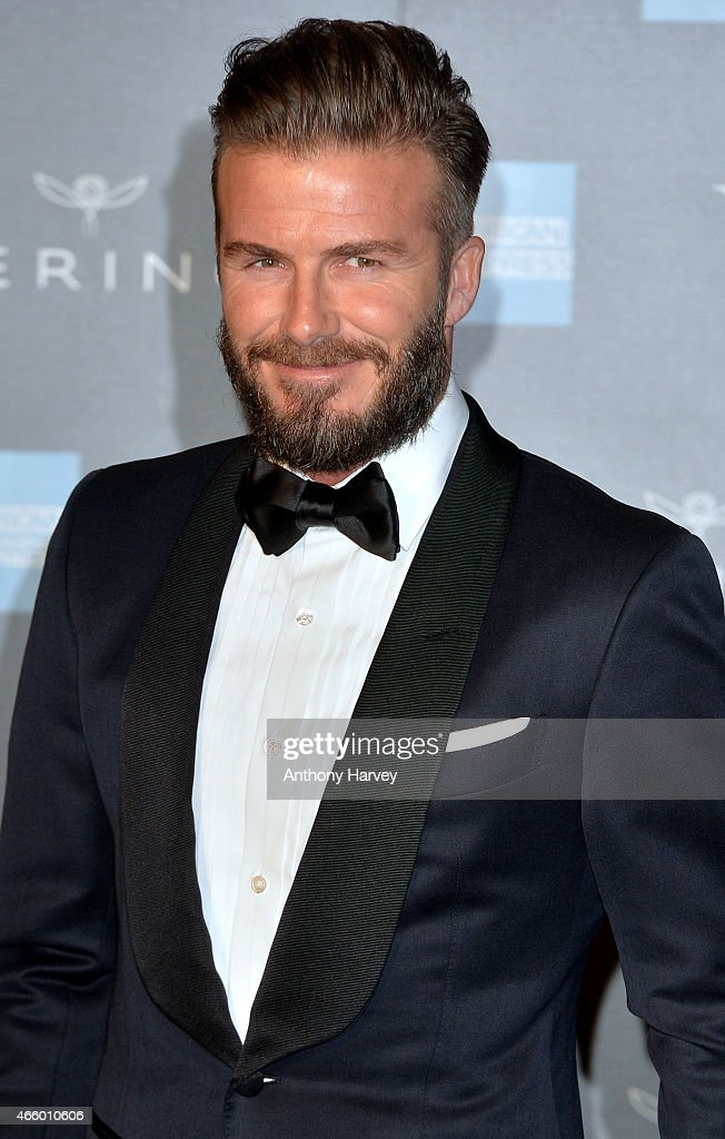 David Beckham attends a private view for the 'Alexander McQueen: Savage Beauty' exhibition at Victoria & Albert Museum on March 12, 2015 in London, England.