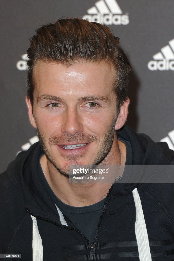 David Beckham attends an autograph session at adidas Performance Store Champs-Elysees on February 28, 2013 in Paris, France.