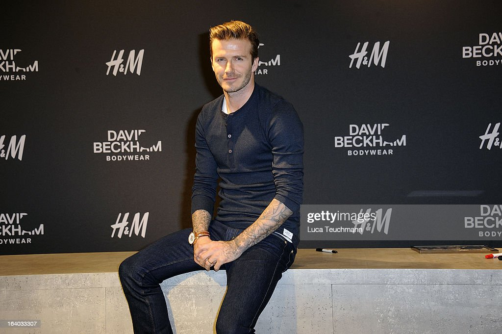 <a gi-track='captionPersonalityLinkClicked' href=/galleries/search?phrase=David+Beckham&family=editorial&specificpeople=158480 ng-click='$event.stopPropagation()'>David Beckham</a> attends <a gi-track='captionPersonalityLinkClicked' href=/galleries/search?phrase=David+Beckham&family=editorial&specificpeople=158480 ng-click='$event.stopPropagation()'>David Beckham</a> Presents Bodywear for H&M in at the H&M Berlin on March 19, 2013 in Berlin, Germany.