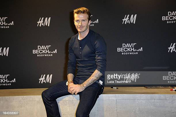 David Beckham attends David Beckham Presents Bodywear for HM in at the HM Berlin on March 19 2013 in Berlin Germany
