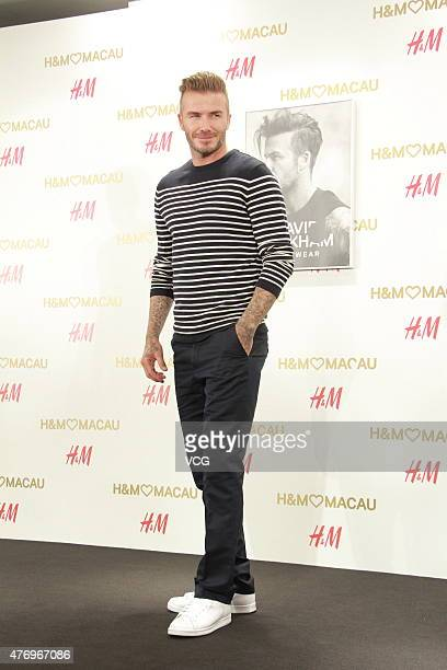 David Beckham attends HM store opening ceremony on June 13 2015 in Macau Macau