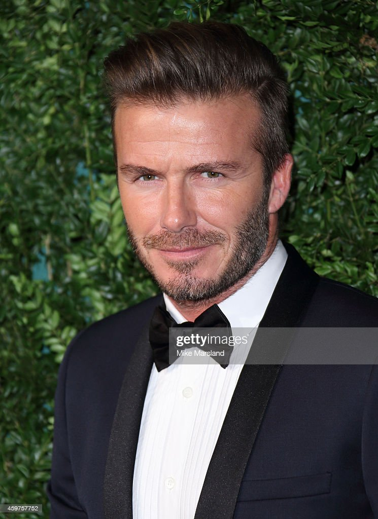 David Beckham attends the 60th London Evening Standard Theatre Awards at London Palladium on November 30, 2014 in London, England.