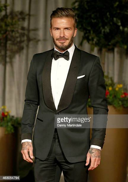 David Beckham attends the after party for the EE British Academy Film Awards at The Grosvenor House Hotel on February 8 2015 in London England