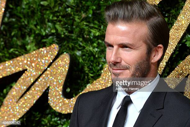 David Beckham attends the British Fashion Awards 2015 at London Coliseum on November 23 2015 in London England