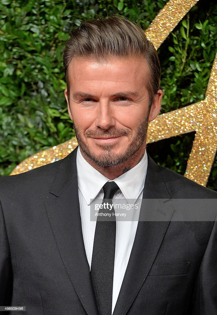 David Beckham attends the British Fashion Awards 2015 at London Coliseum on November 23, 2015 in London, England.