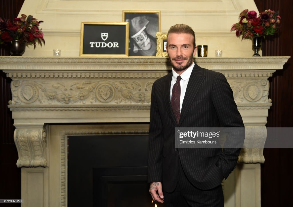 David Beckham attends the celebration of his new ambassadorship for Swiss Watch Brand, TUDOR, at The Clocktower in New York City on November 9, 2017 in New York City.