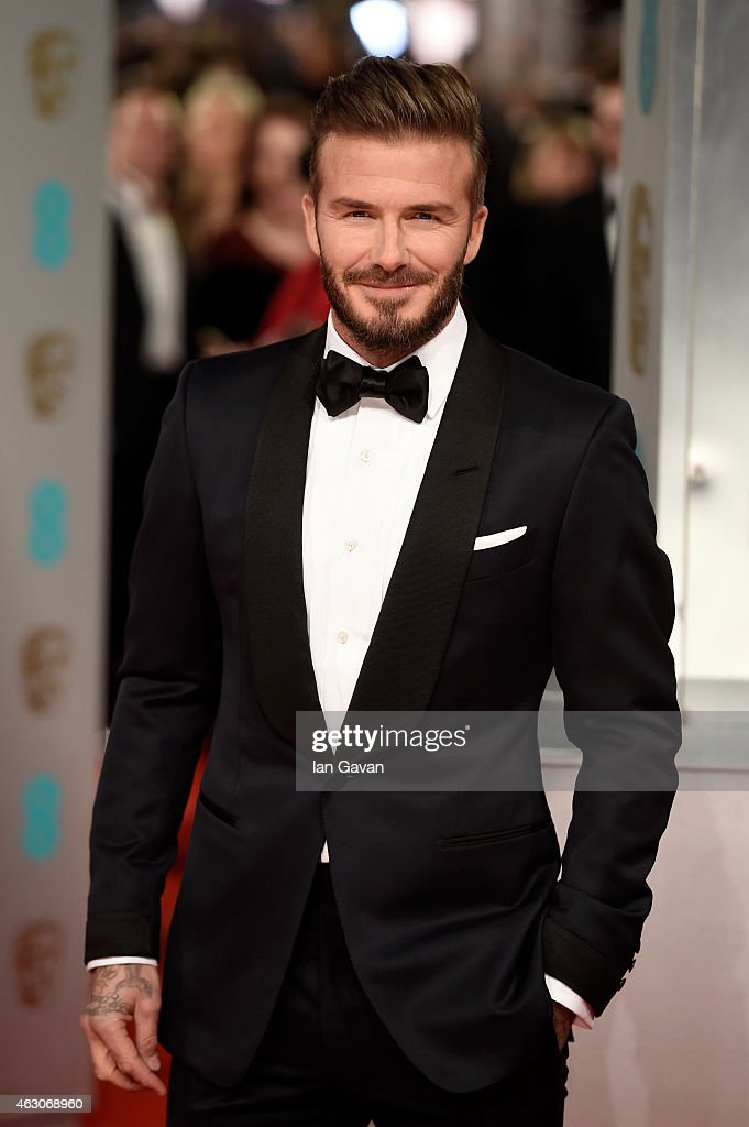 <a gi-track='captionPersonalityLinkClicked' href=/galleries/search?phrase=David+Beckham&family=editorial&specificpeople=158480 ng-click='$event.stopPropagation()'>David Beckham</a> attends the EE British Academy Film Awards at The Royal Opera House on February 8, 2015 in London, England.