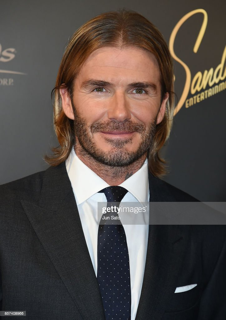 David Beckham attends the photocall for Las Vegas Sands at Palace Hotel on October 4, 2017 in Tokyo, Japan.