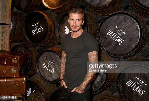 David Beckham attends the premiere for Belstaff FilmsÕ Outlaws' during London Fashion Week at La Bodega Negra on September 21 2015 in London England