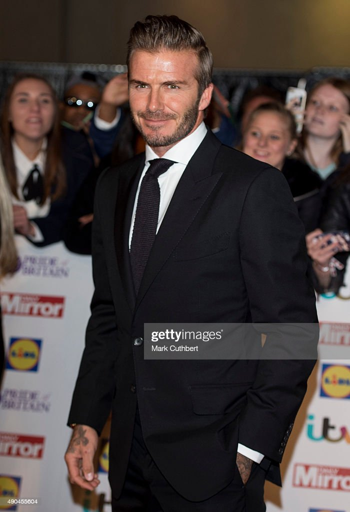 David Beckham attends the Pride of Britain awards at The Grosvenor House Hotel on September 28, 2015 in London, England.