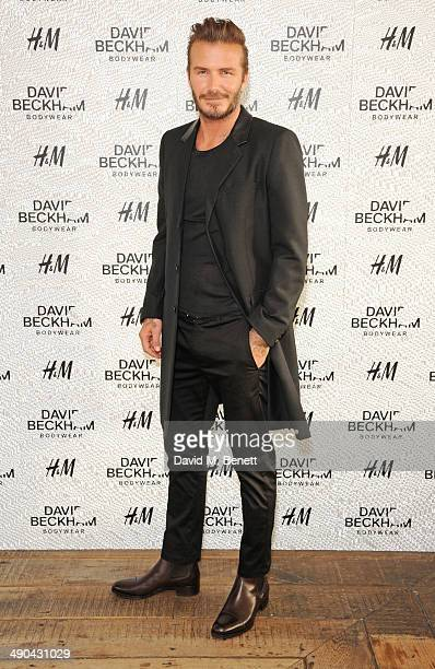 David Beckham attends the private launch of David Beckham For HM Swimwear at Shoreditch House on May 14 2014 in London England