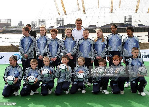 David Beckham during David Beckham Launches 'The David Beckham Football Academy' at Bouy Wharf in London Great Britain