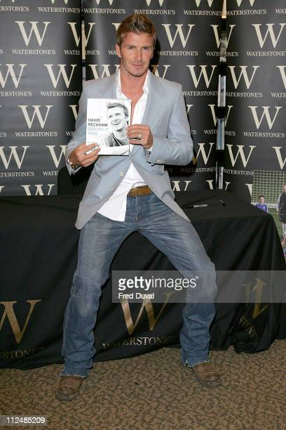 David Beckham during David Beckham 'Making It Real' Book Launch at Waterstone's September 18 2006 at Waterstone's Bookstore in London Great Britain