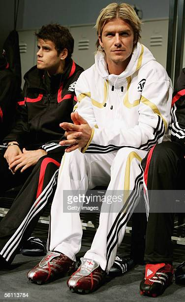 David Beckham during the Adidas press launch of the new Predator Football boot on November 7 2005 in Las Rozas Madrid