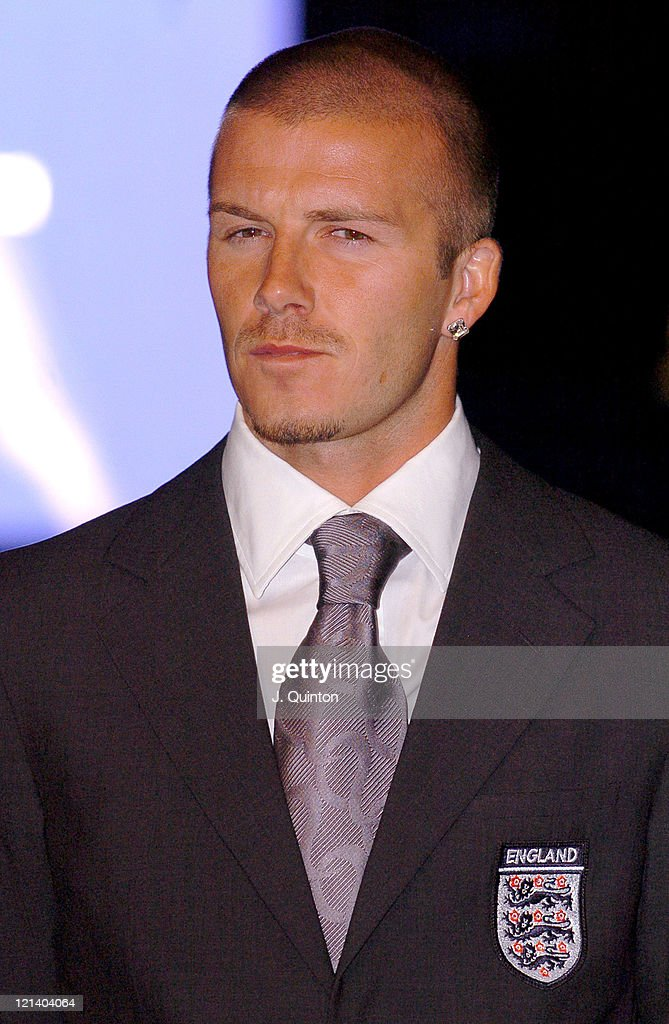 David Beckham during Wembley Stadium Celebrates Topping of the New Arches at Wembley Stadium in London, Great Britain.