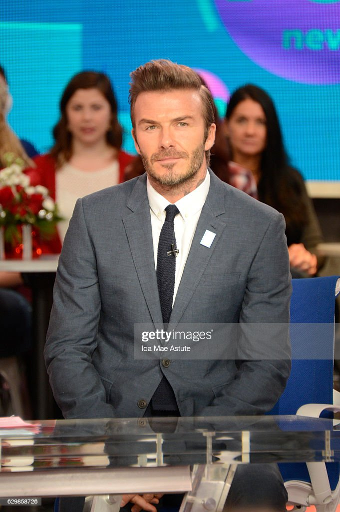 AMERICA - David Beckham is a guest on 'Good Morning America,' Monday, December 12, 2016, airing on the ABC Television Network. DAVID