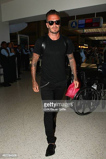David Beckham is seen at LAX on July 29 2015 in Los Angeles California