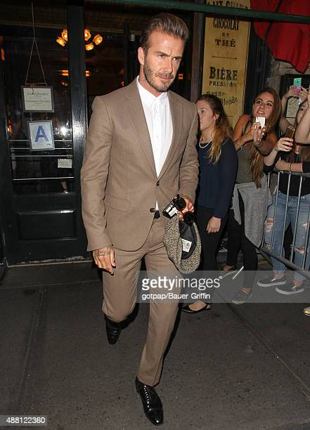 David Beckham is seen on September 13 2015 in New York City