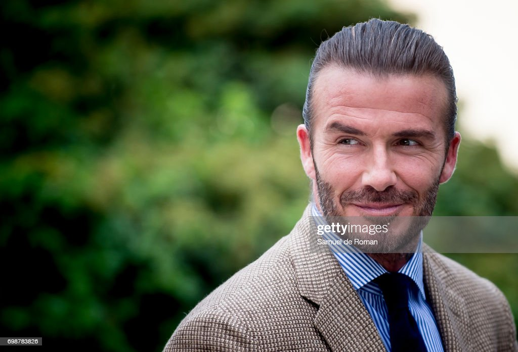 David Beckham is the Biotherm Homme new ambassador on June 20, 2017 in Madrid, Spain.