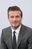 David Beckham looks on during he visit Hangzhou Greentown club on June 22 2013 in Hangzhou China