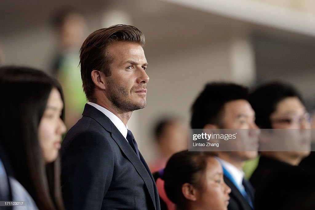 <a gi-track='captionPersonalityLinkClicked' href=/galleries/search?phrase=David+Beckham&family=editorial&specificpeople=158480 ng-click='$event.stopPropagation()'>David Beckham</a> looks on during his visit Hangzhou Huanglong Stadium on June 22, 2013 in Hangzhou, China.