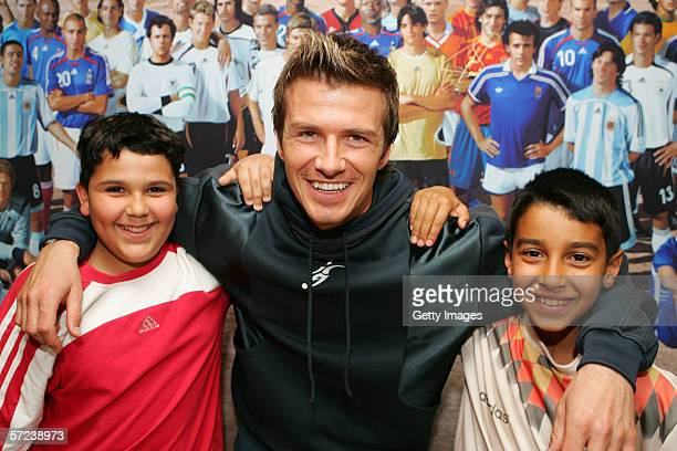 David Beckham of Real Madrid England attends the Adidas Impossible Team launch event on April 03 2006 in Madrid Spain