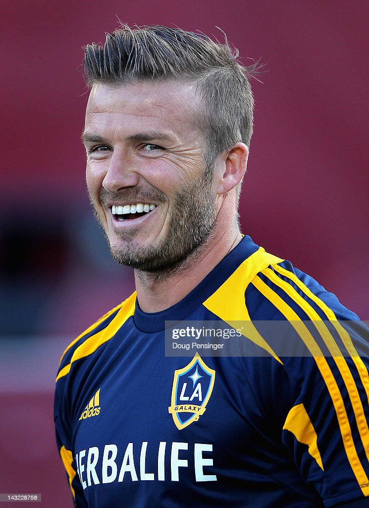 <a gi-track='captionPersonalityLinkClicked' href=/galleries/search?phrase=David+Beckham&family=editorial&specificpeople=158480 ng-click='$event.stopPropagation()'>David Beckham</a> #23 of the Los Angeles Galaxy looks on as he warms up prior to facing the Colorado Rapids at Dick's Sporting Goods Park on April 21, 2012 in Commerce City, Colorado.