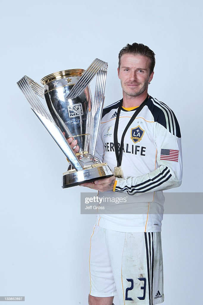 <a gi-track='captionPersonalityLinkClicked' href=/galleries/search?phrase=David+Beckham&family=editorial&specificpeople=158480 ng-click='$event.stopPropagation()'>David Beckham</a> #23 of the Los Angeles Galaxy poses for a portrait following the 2011 MLS Cup at The Home Depot Center on November 20, 2011 in Carson, California.