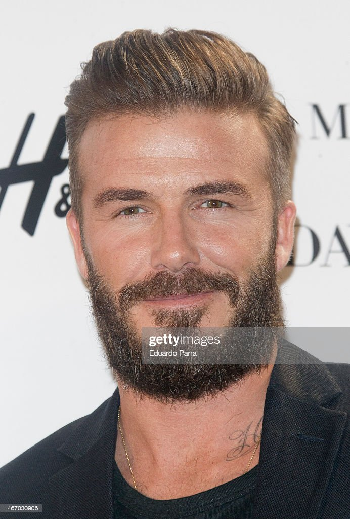 <a gi-track='captionPersonalityLinkClicked' href=/galleries/search?phrase=David+Beckham&family=editorial&specificpeople=158480 ng-click='$event.stopPropagation()'>David Beckham</a> presents the new 'Modern Essentials by H&M' collection at the H&M Gran Via store on March 20, 2015 in Madrid, Spain.