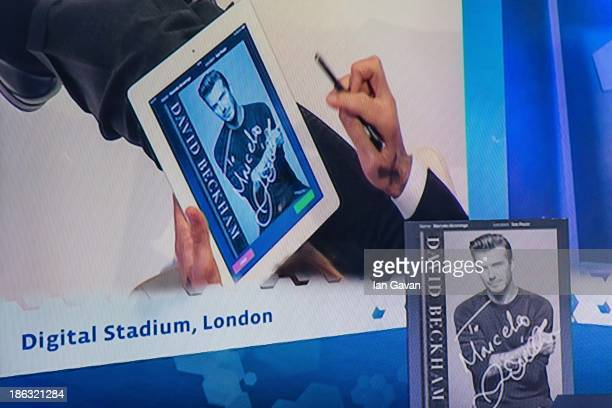 David Beckham shares a special digital signature with fans at Facebook's Offices in Sao Paulo from 3pm today on October 30 2013 in London England