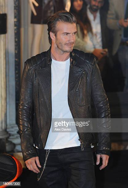 David Beckham sighting at Belstaff Bike launch on Bond Street on September 15 2013 in London England