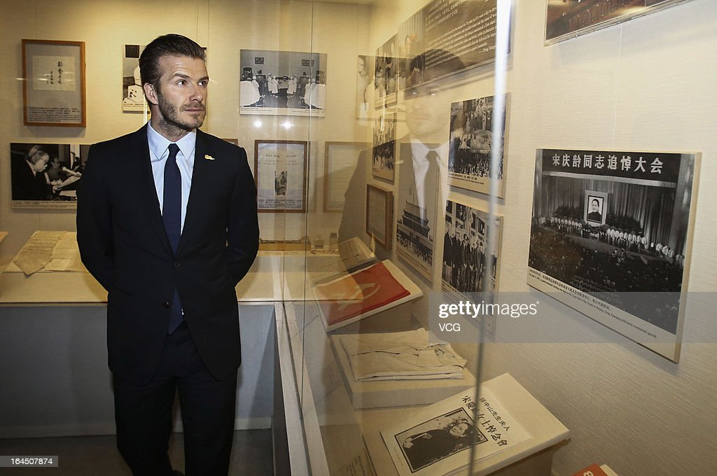David Beckham visits the Former Residence of Soong Ching Ling, the wife of Chinese revolutionary Sun Yat-sen, on March 24, 2013 in Beijing, China.