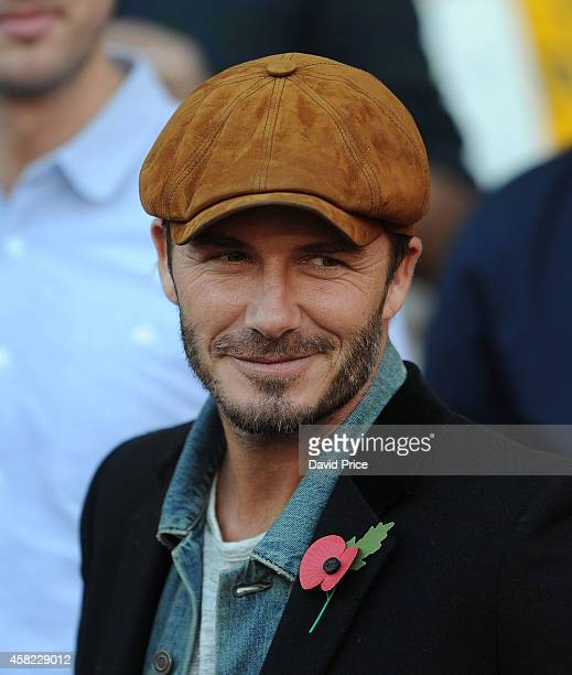 David Beckham watches the match between Arsenal and Burnley in the Barclays Premier League at Emirates Stadium on November 1 2014 in London England