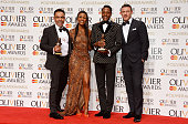 David Bedella winner of the Best Actor in a Supporting Role in a Musical award for 'In The Heights' Beverley Knight Matt Henry winner of the Best...